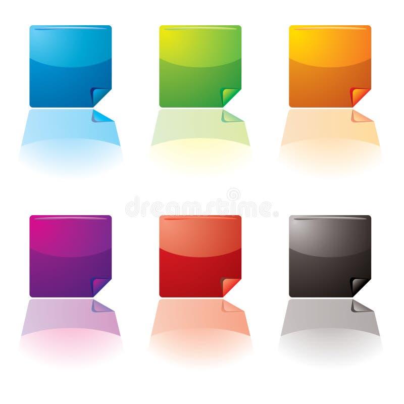 Download Button var curl stock vector. Illustration of paper, symbol - 5672569