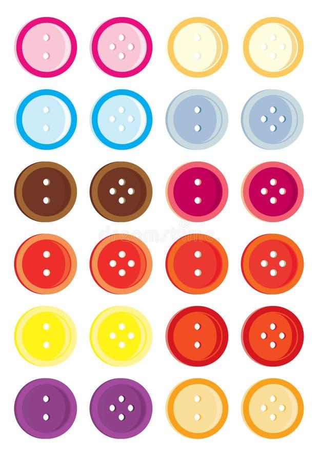 Button variation set stock illustration
