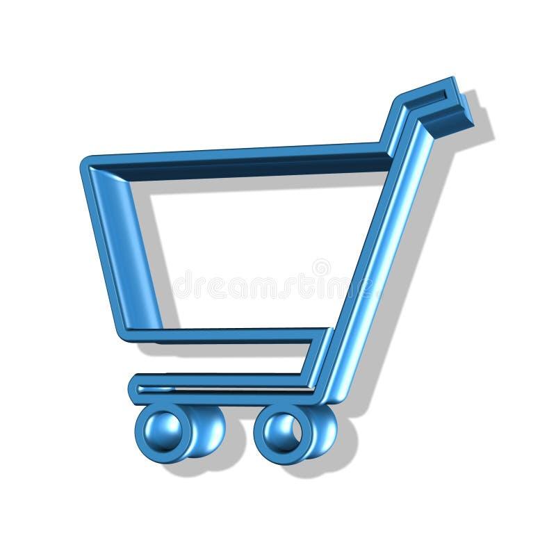 button wózka na zakupy ilustracja wektor