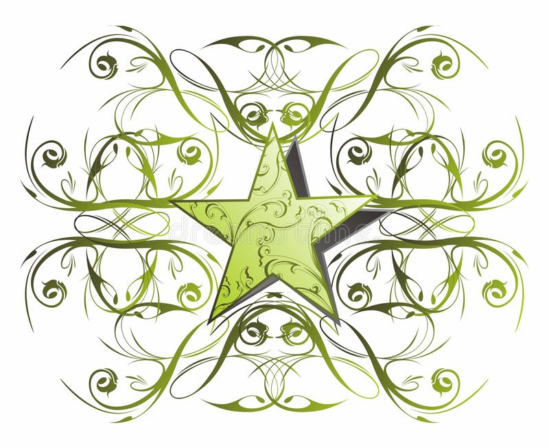 Download Button web star floral stock vector. Illustration of blank - 28783805