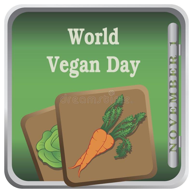 Button World Vegan Day stock illustration