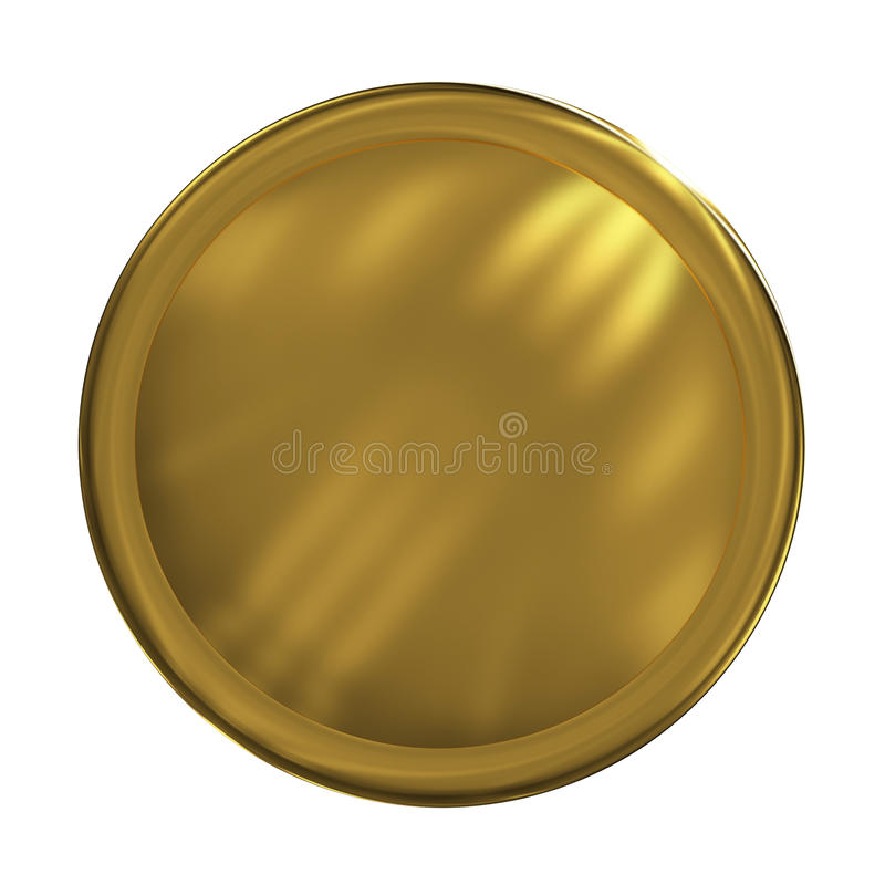 button złota sieci royalty ilustracja