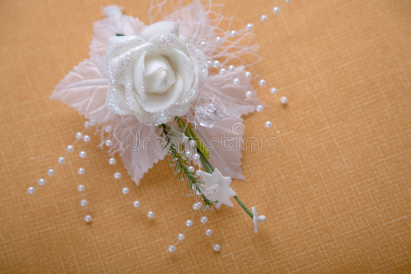 buttonhole ślub obraz royalty free