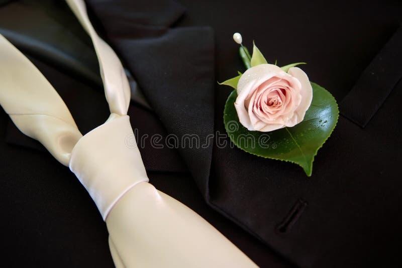 buttonhole krawata ślub obrazy royalty free
