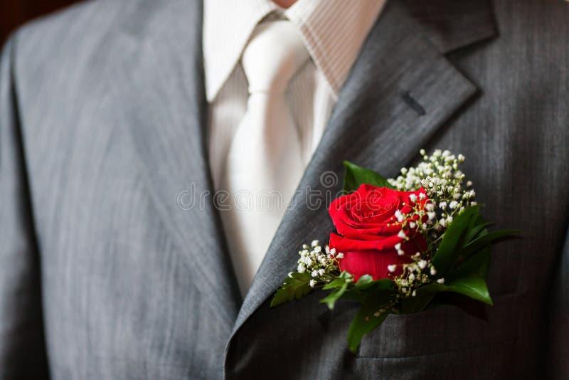 buttonhole wzrastał fotografia royalty free