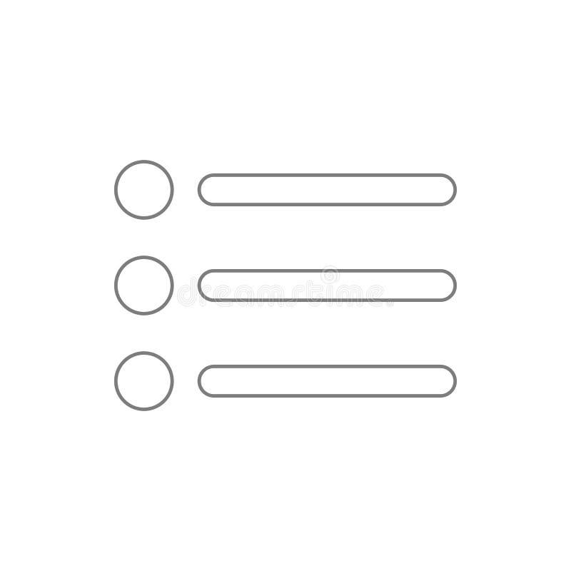 buttonicon da aplicação do menu Elemento da segurança do cyber para o conceito e o ícone móveis dos apps da Web Linha fina ícone  ilustração royalty free