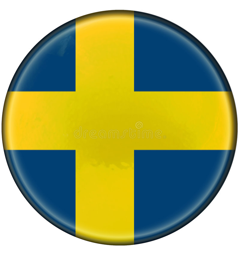 Free Buttonised Flag Of Sweden Royalty Free Stock Images - 6199389