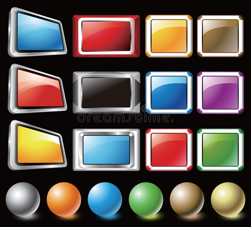 Buttons stock illustration