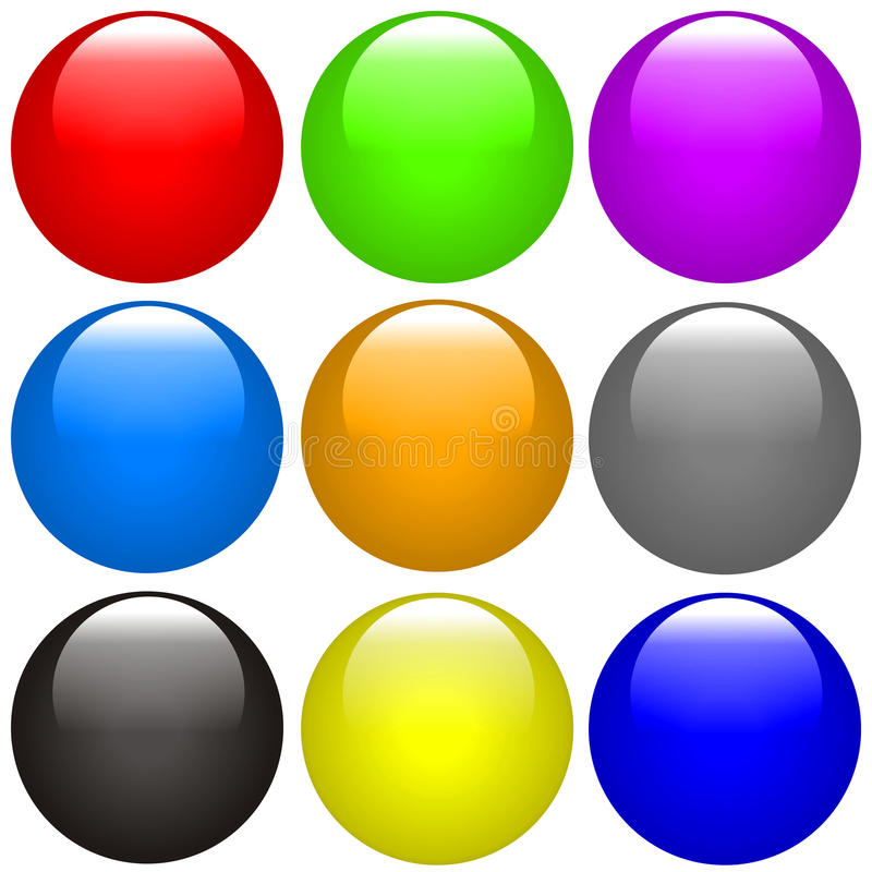 Download Buttons stock illustration. Image of icon, circle, violet - 12274305