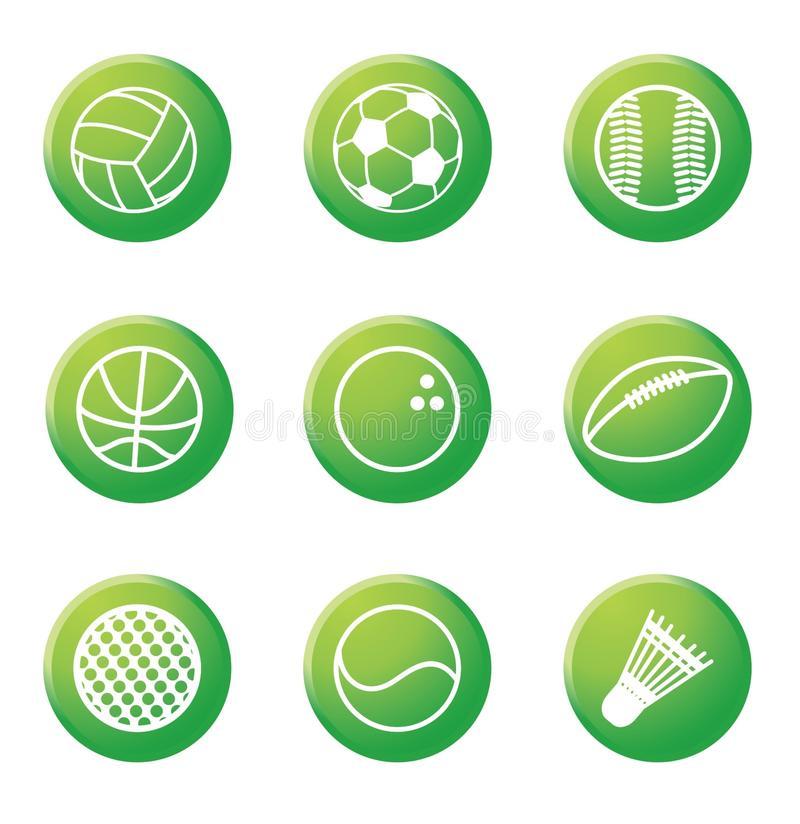 Download Buttons stock vector. Image of circle, golf, group, football - 12727764