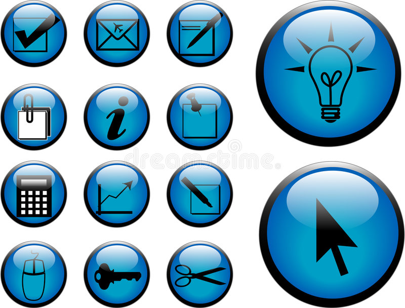 Download Buttons stock illustration. Illustration of briefcase - 1286094