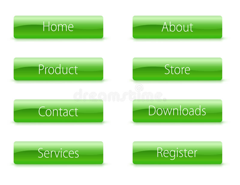 Download Buttons stock illustration. Image of contact, rectangle - 13203361