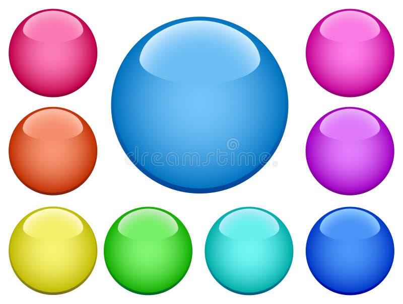 Buttons-2 moderno ilustración del vector