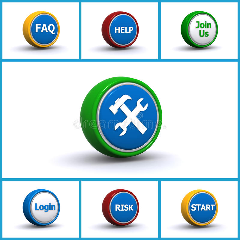 Download Buttons stock image. Image of white, locations, buttons - 26308483