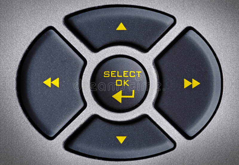 The Buttons. Cross on the remote royalty free stock photos