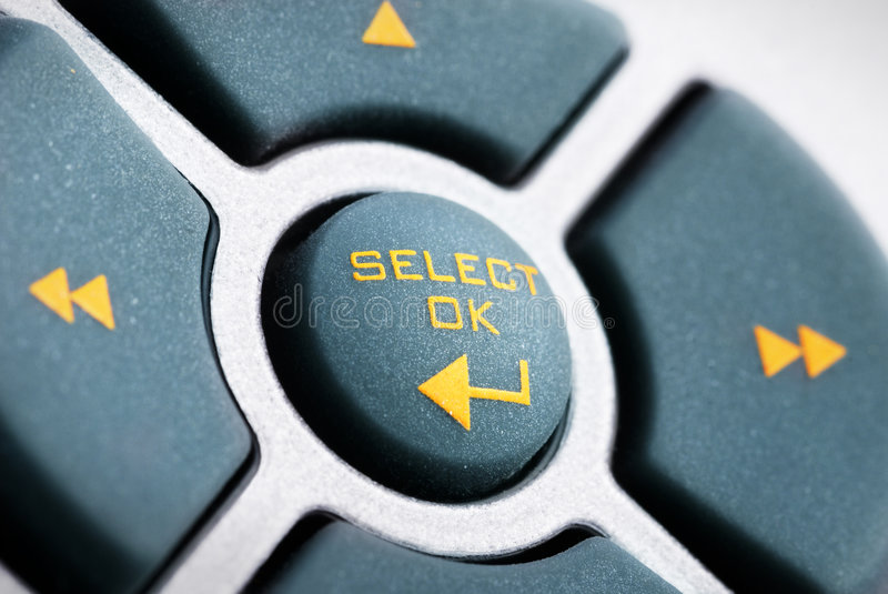 The Buttons. Cross on the remote royalty free stock photo
