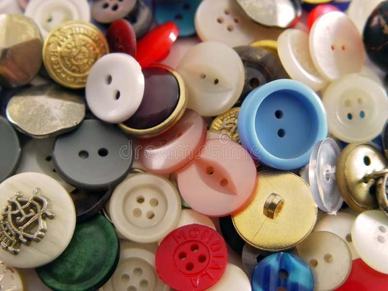 Download Buttons stock photo. Image of crowded, colours, chaos, tailor - 69552