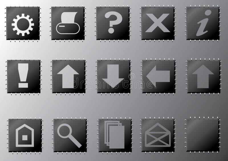 Download Buttons stock vector. Image of navigation, downwards, upwards - 7782816