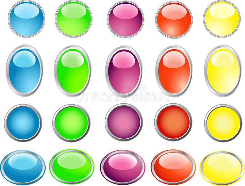 Buttons. Vector illustration of colored buttons royalty free illustration
