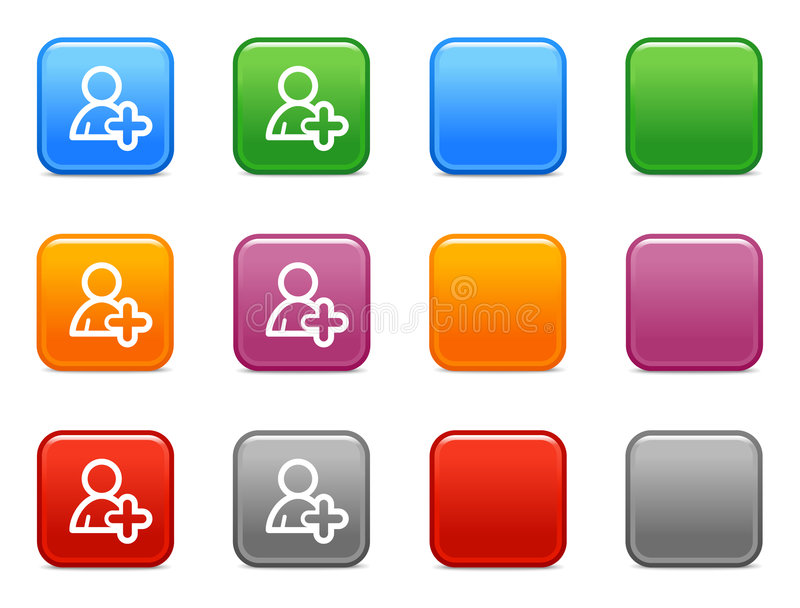 Buttons With Add User Icon Stock Images