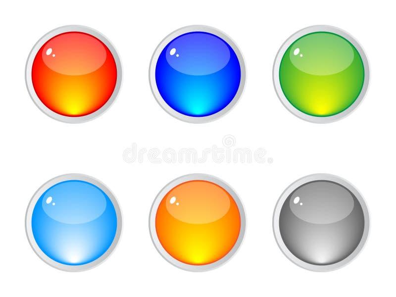 buttons blank rengöringsduk stock illustrationer