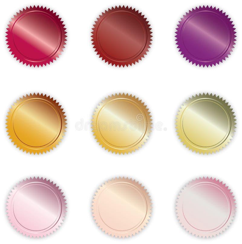 buttons blankt vibrerande vektor illustrationer