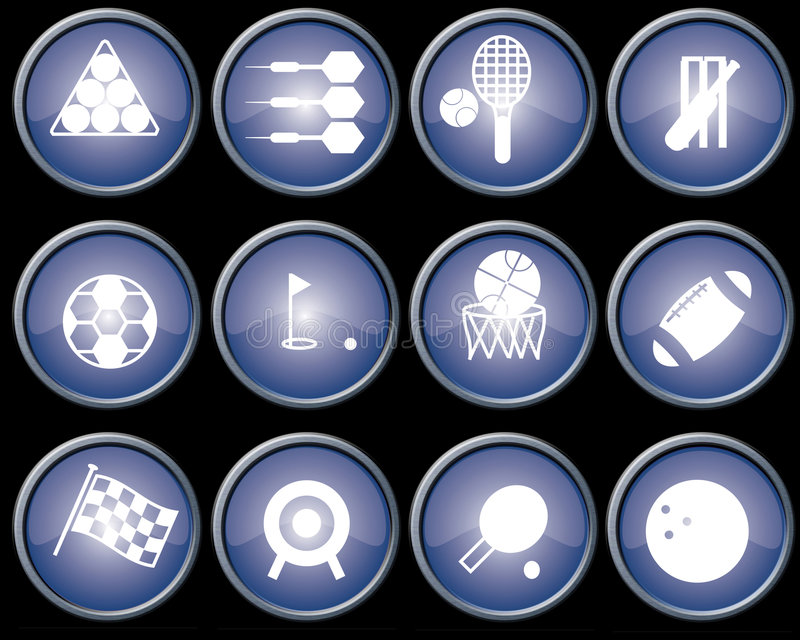 Download Buttons blue metal stock illustration. Illustration of sports - 4825281