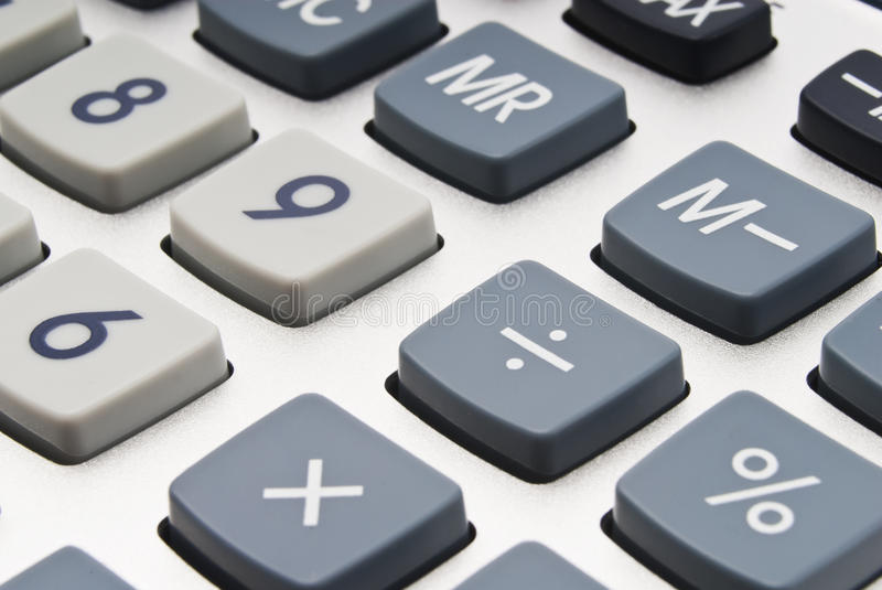 Buttons of calculator (in soft focus) royalty free stock photography