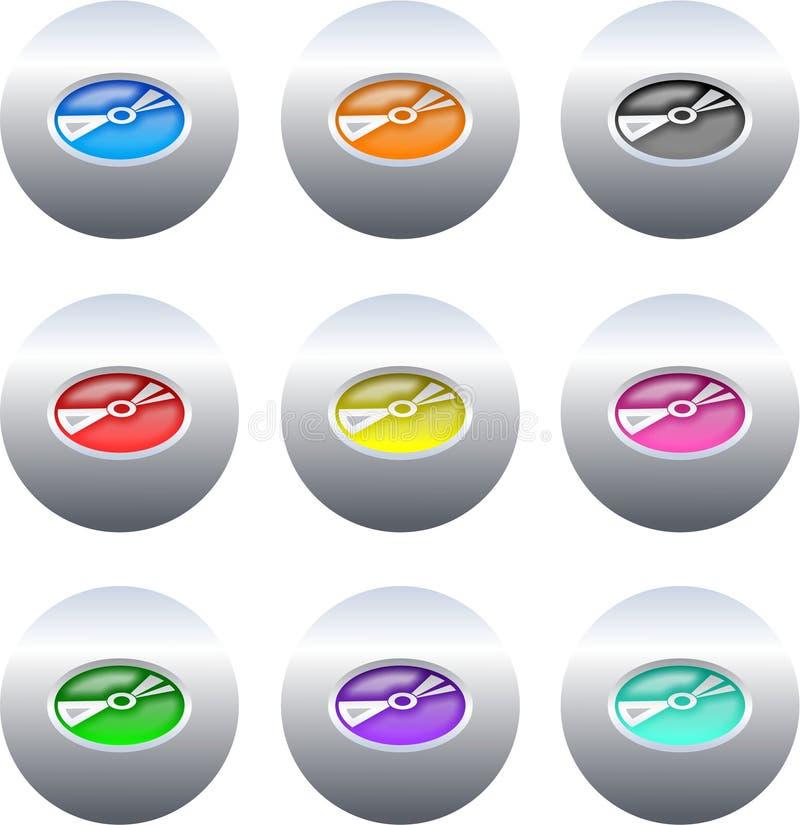 buttons cd vektor illustrationer