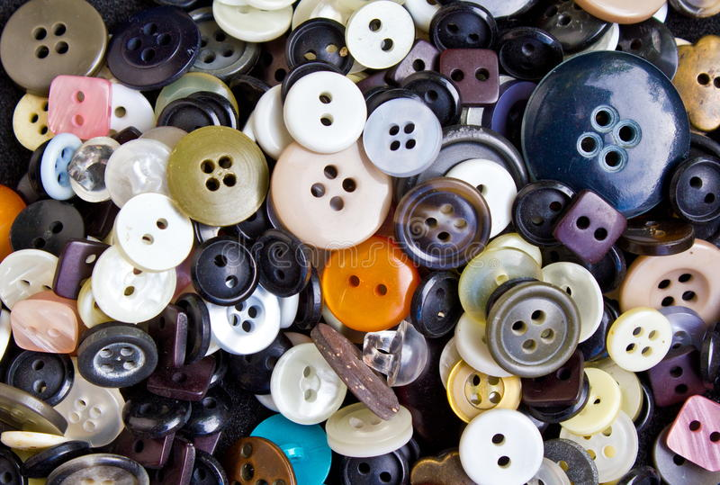 Buttons for clothing stock photo