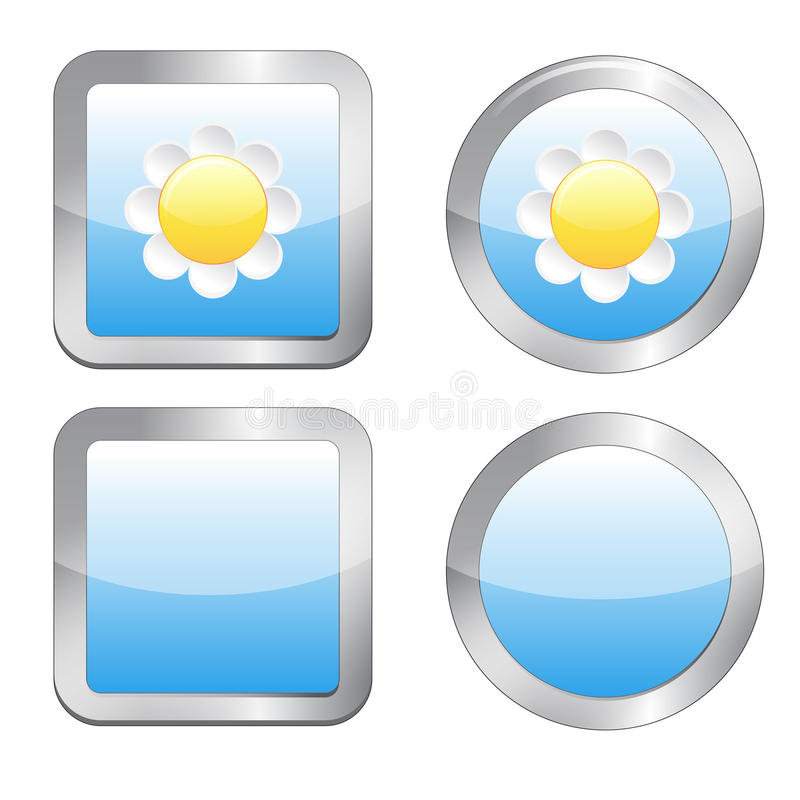 Download Buttons with daisy stock vector. Image of illustration - 25837834