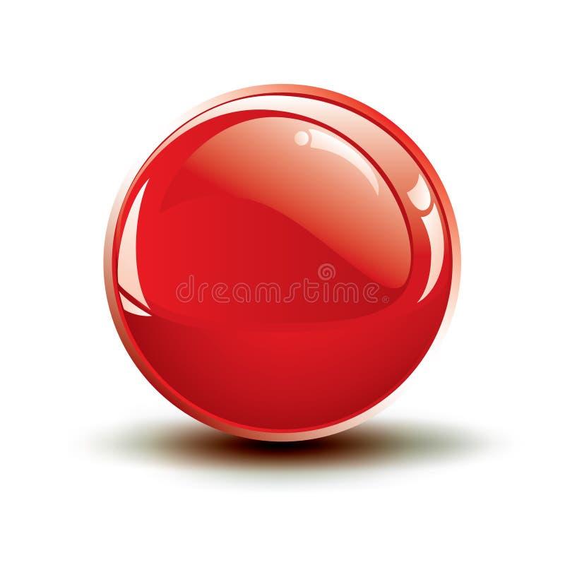 buttons den blanka vektorn för den glansiga symbolen royaltyfri illustrationer