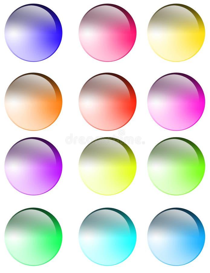 buttons exponeringsglas stock illustrationer