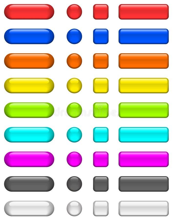 buttons exponeringsglas blankt vektor illustrationer