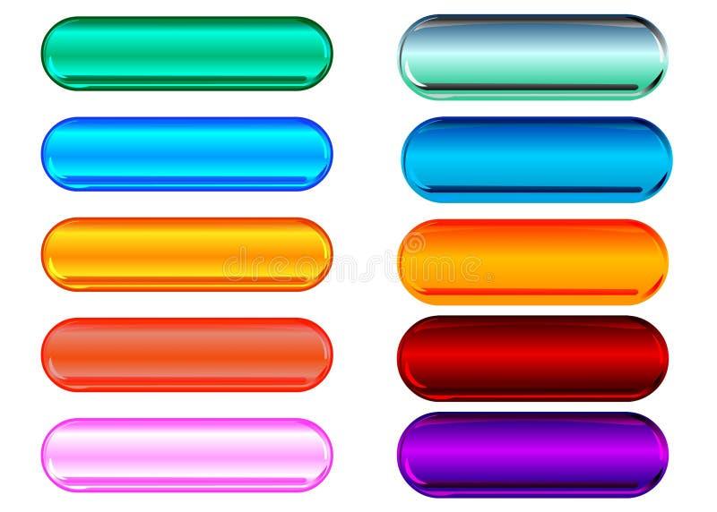 buttons exponeringsglas metalliskt royaltyfri illustrationer