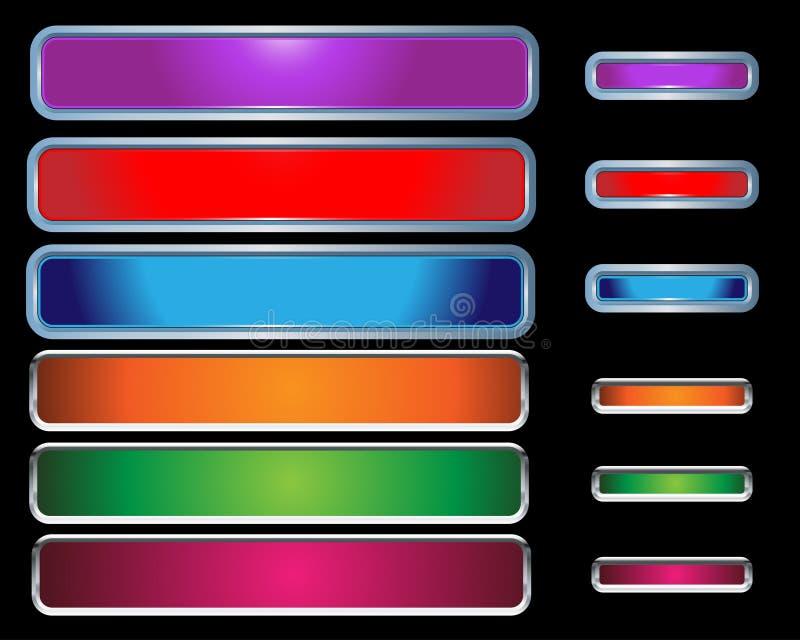 buttons färgrik rengöringsduk royaltyfri illustrationer