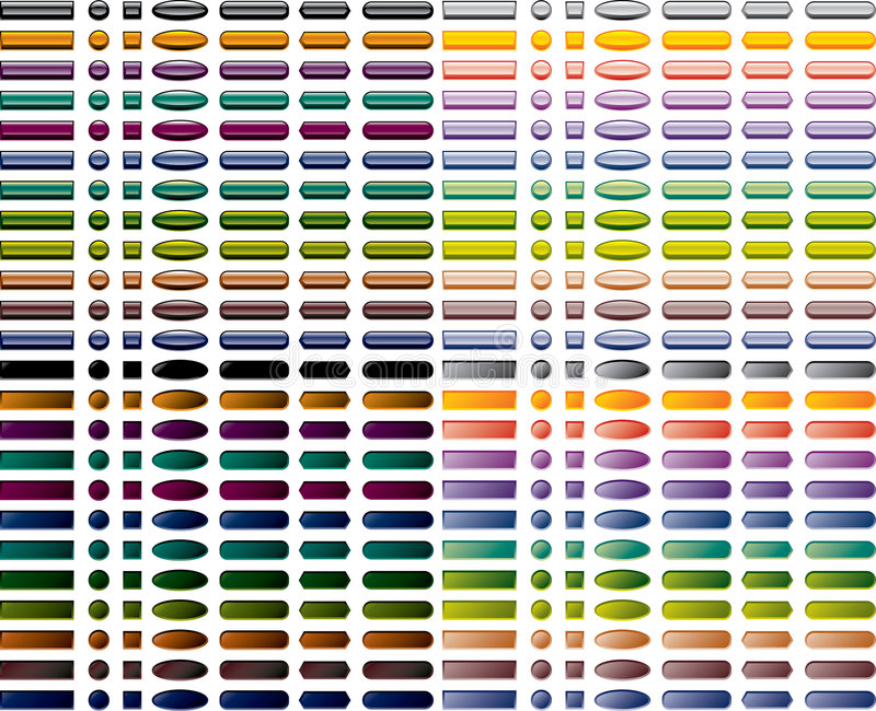 buttons färgrik setrengöringsduk royaltyfri illustrationer
