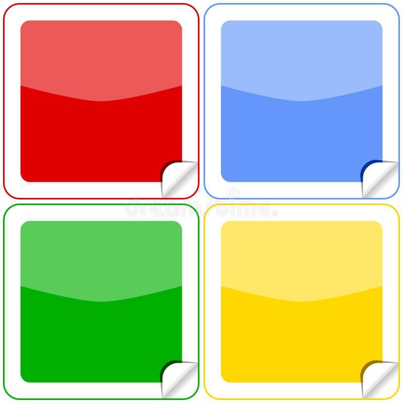 buttons färgrika etiketter