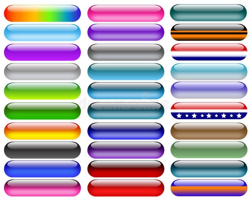 buttons färgrikt stock illustrationer