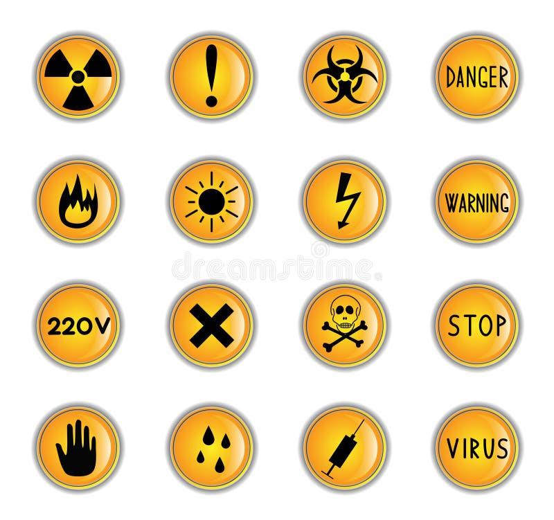 buttons fara vektor illustrationer