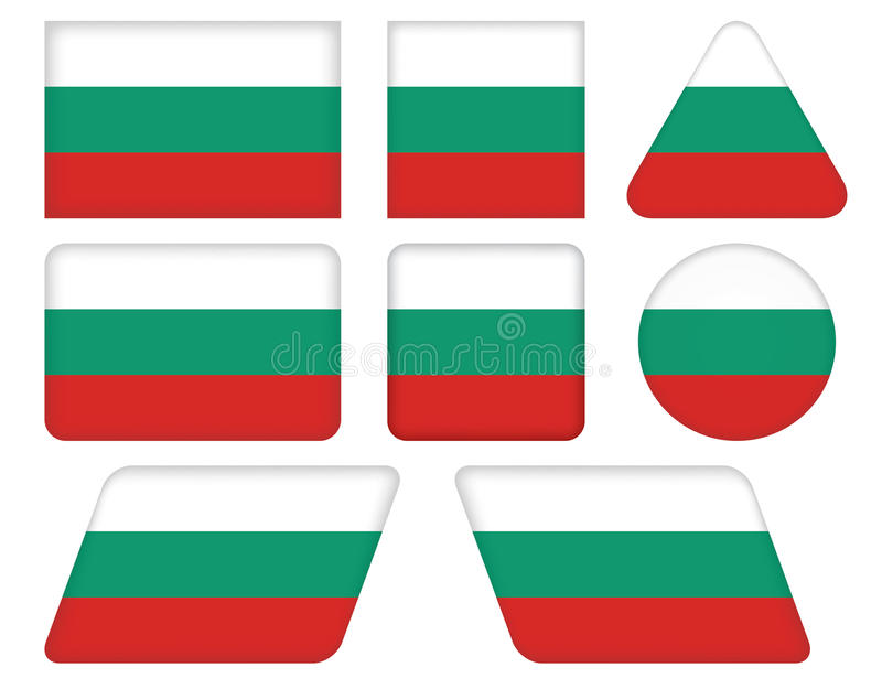 Buttons With Flag Of Bulgaria Stock Images