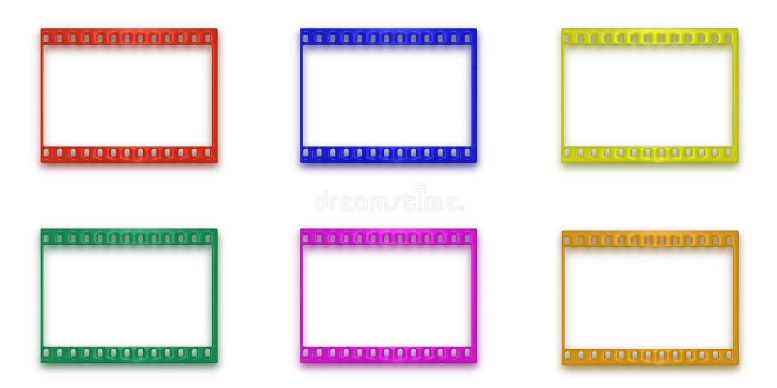 Download Buttons In The Form Of A Film. Stock Illustration - Illustration: 4691859