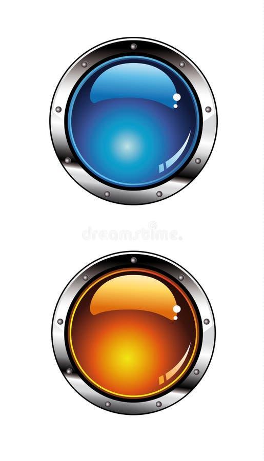 buttons glansig diagramwebsite vektor illustrationer