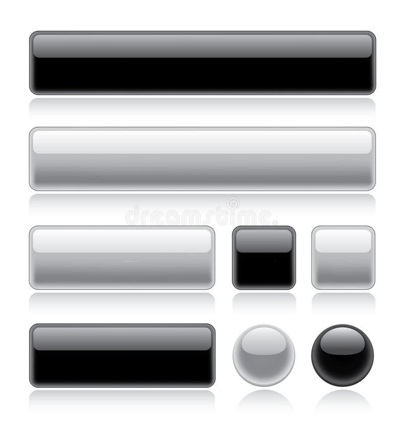 buttons glansig rengöringsduk royaltyfri illustrationer