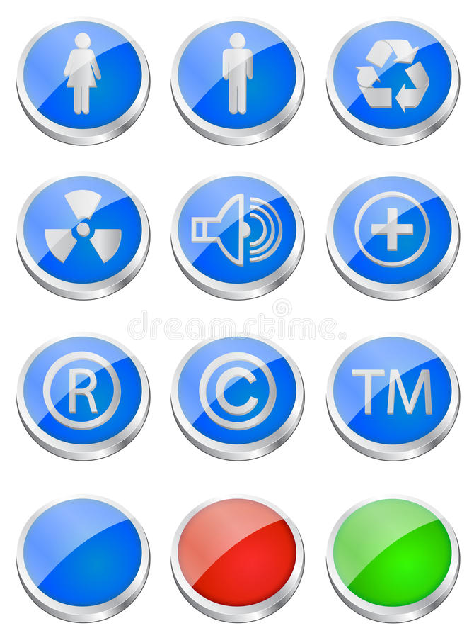 buttons glansig rengöringsduk arkivbilder