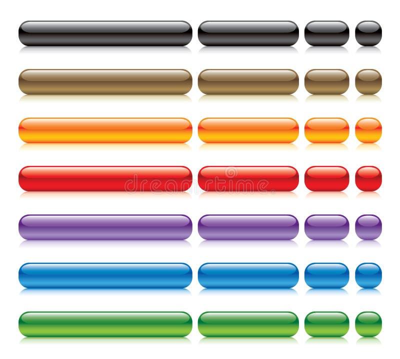 buttons glansig rengöringsduk vektor illustrationer