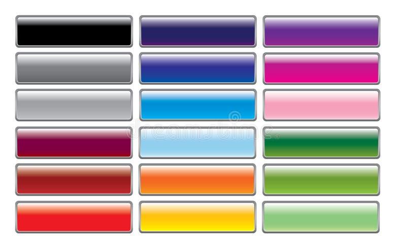 buttons glansig rengöringsduk stock illustrationer