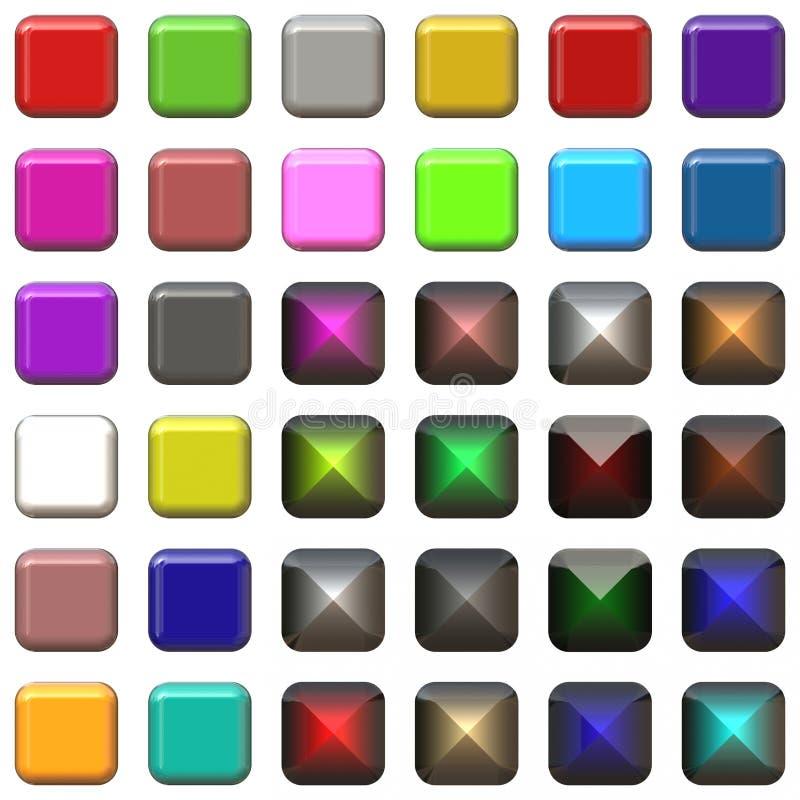 buttons glansigt royaltyfria foton