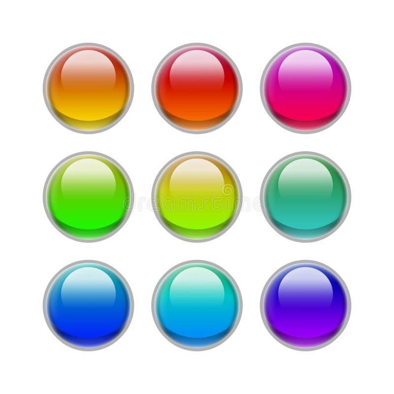 buttons godisögat royaltyfri illustrationer