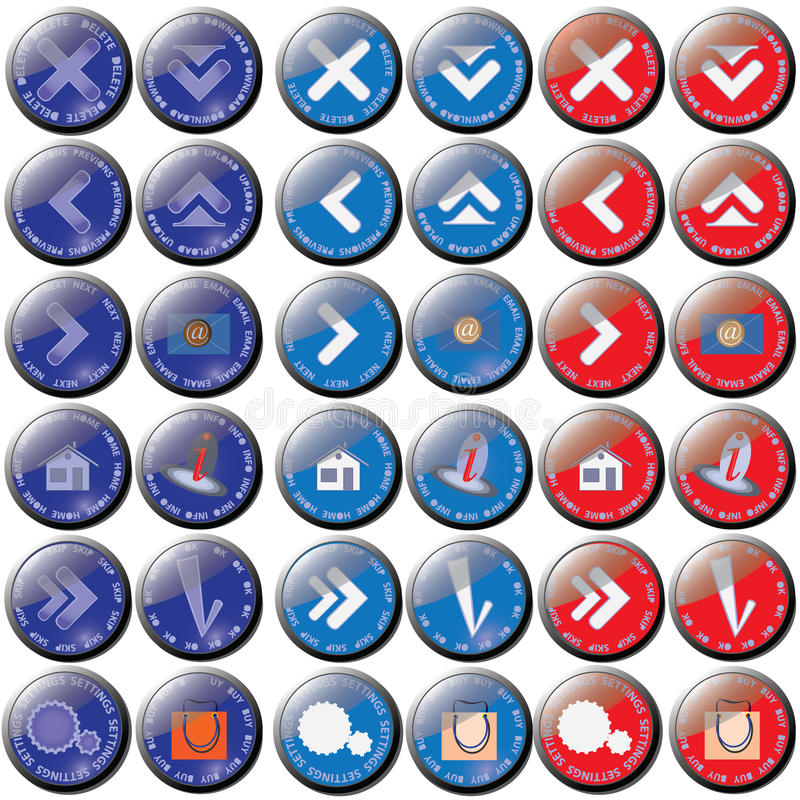 The buttons having three position. royalty free stock image
